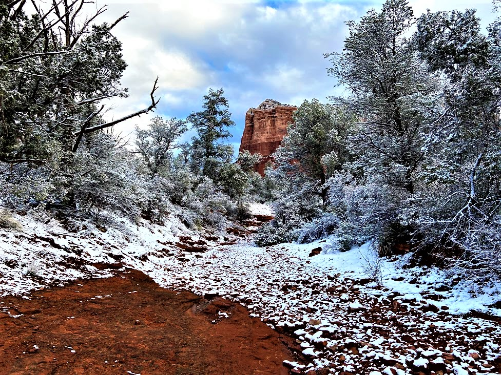 Courthouse Butte from Big Park Loop Creek Crossing, Sedona, AZ