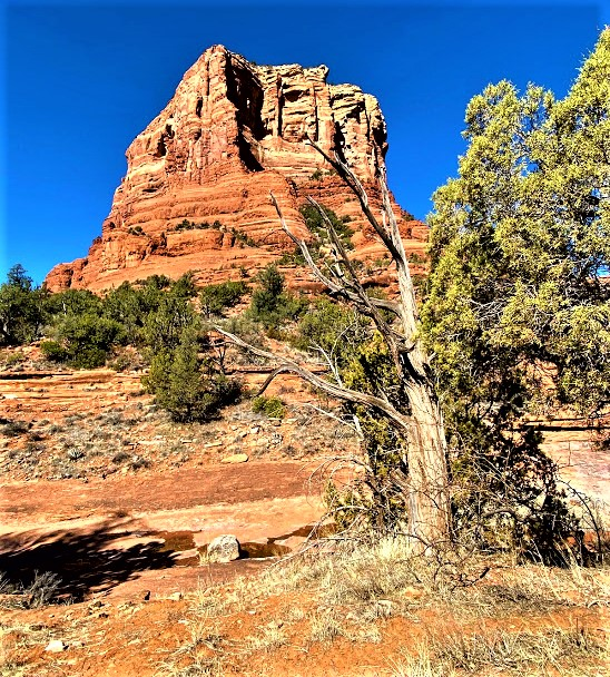 Courthouse From Creek Crossing Off Courthouse Butte Trail Sedona A